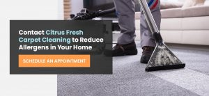 Contact Citrus Fresh Carpet Cleaning to reduce allergens in your home