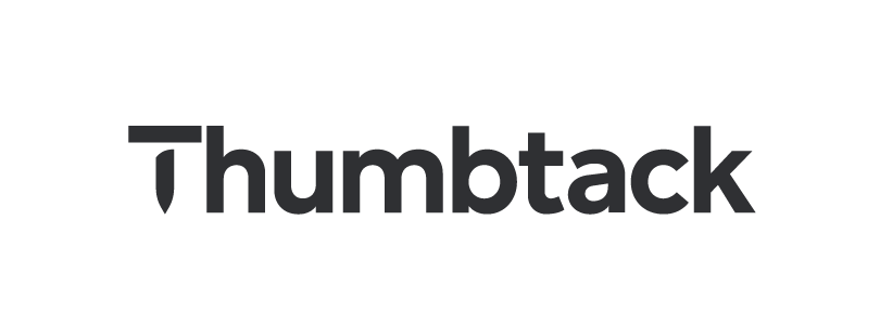 Thumbtack dark logo with transparent background
