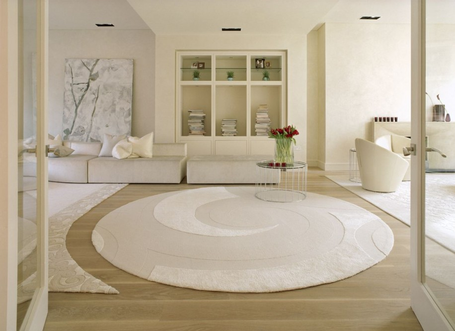 Picture of clean white rug in a clean white room