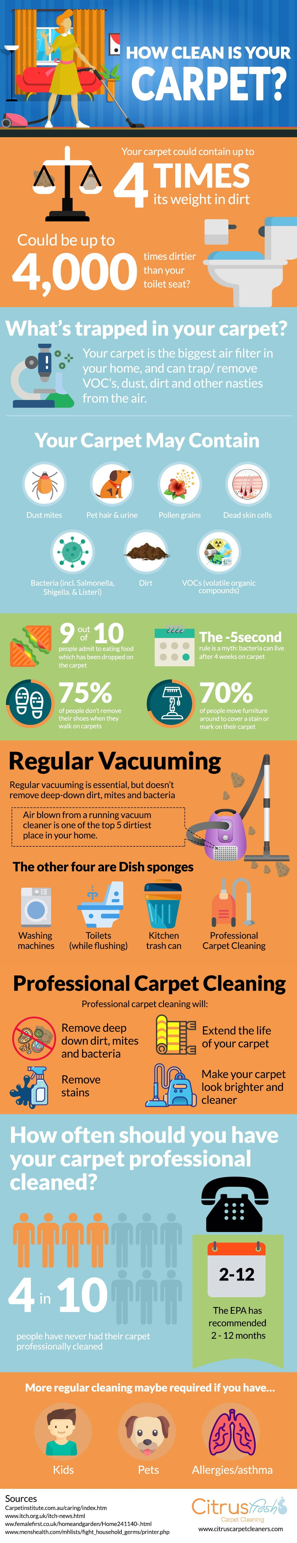 How clean is your carpet infographic